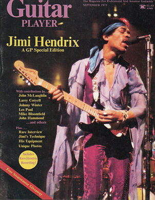 jimi hendrix magazine collector / guitar player september  1975 / beginnings
