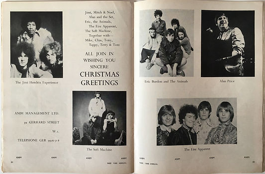all join in wishing you sincere christmas greetings/jimi hendrix experience 1967