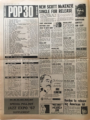jimi hendrix collector melody maker 7/10/1967 newspapers pop 30