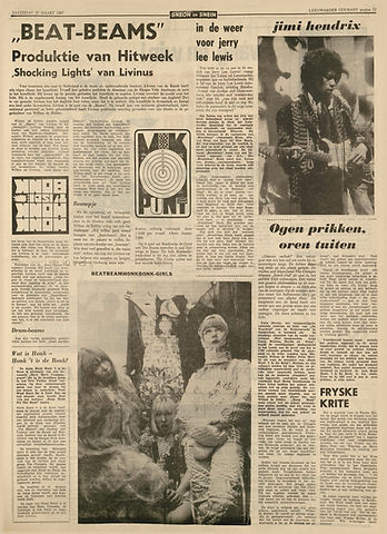 jimi hendrix newspapers 1967/leeuwarder courant march 25, 1967