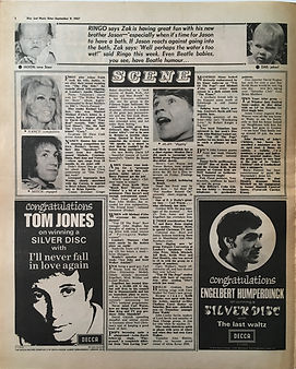 jimi hendrix collector newspapers/disc music echo 9/9/1967  mitch engaged