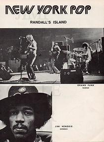 jimi hendrix memorabilia 1970 / program  july  1970  new york pop