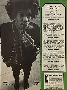 jimi hendrix collector magazine/pop foto september 1967