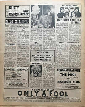 jimi hendix newspaper/july 27 1968/majorca and jimi