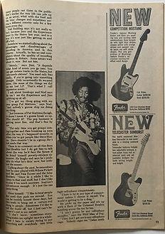 jimi hendrix magazines 1969/hit parader november 1969