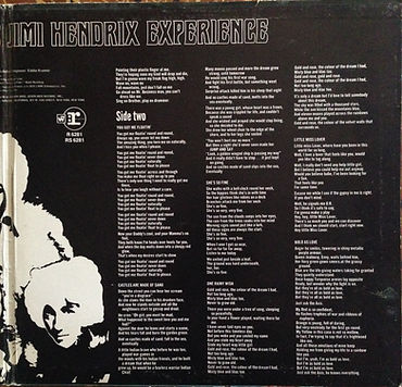 jimi hendrix collector vinyls lp/axis bold as love stereo usa 1968 inside cover lyrics