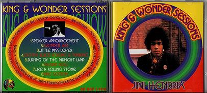 jim hendrix collector cd bootlegs/king & wonder sessions/ho boy 1994