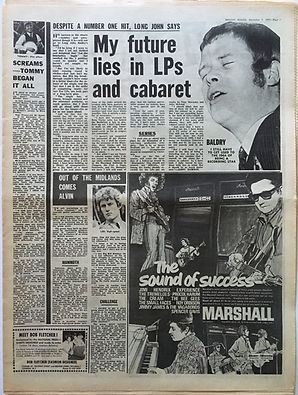 jimi hendrix collectr newspaper/the sound of success marshall melody maker 2/12/1967