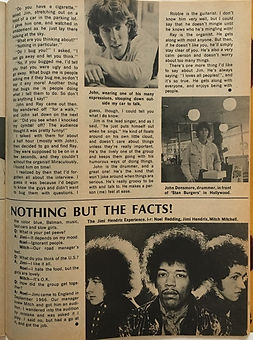 jimi hendrix collector magazines/teen date book february 1968