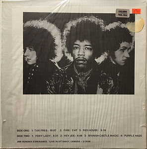 live in ottaway lp vinyl album/jimi hendrix collector