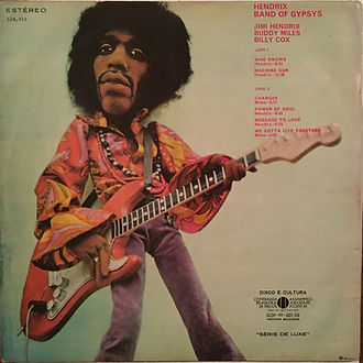 jimi hendrix rotily vinyls collector/band of gypsys 1970 brazil