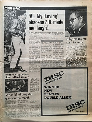 jimi hendrix newspaper 1968/melody maker november 23 1968