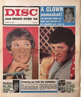 newspapers collector jimi hendrix/disc music echo 12/8/67