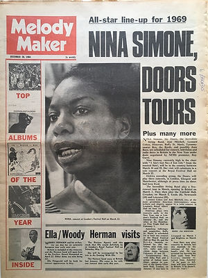 jimi hendrix newspaper 1968/melody maker december 28 1968
