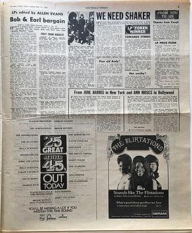 jimi hendrix newspaper 1969/new musical express may 31 1969