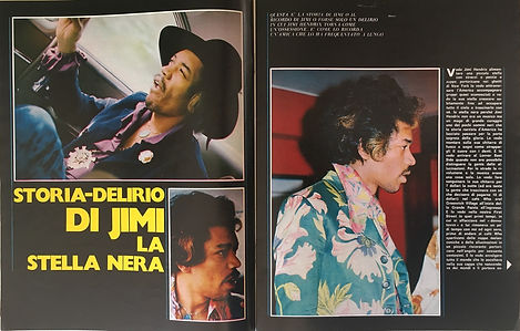 jimi hendrix magazines 1970 death :ciao 2001  october 21, 1970