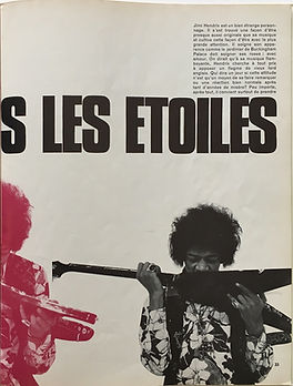 jimi hendrix magazine/rock & folk : hendrix dans les etoiles/ june/july 1968