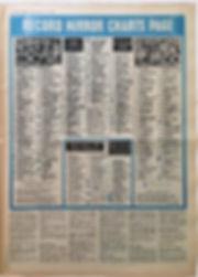 record mirror june 15 1968/ top LPs smash hits N°12/jimi hendrix newspaper