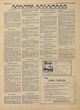 jimi hendrix newspaper 1968/the fifth estate /november 28 1968