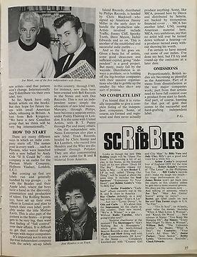 jimi hendrix magazines/beat instrumental april 1968