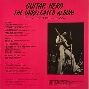 jimi hendrix collector bootlegs lp album/guitar hero first pressing 1977 stoned records