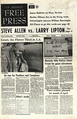 jimi hendrix newspaper 1970 /los angeles free press march 27 / april 2, 1970