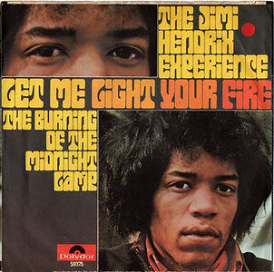 jimi hendrix collector rotily singles vinyls 45r/let me light your fire/the burning of the midnight lamp germany polydor 1969