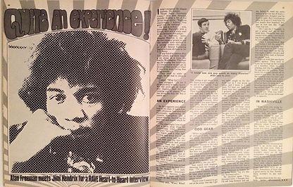 jimi hendrix magazine collector/rave june 1967