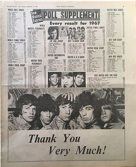 jimi hendrix collector newspaper/poll supplement 9/12/1967
