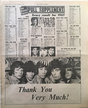 jimi hendrix collector newspaper/poll supplement 9/12/1967