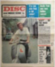 jimi hendrix newspaper 1968/disc music echo 5/10/68