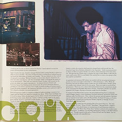 jimi hendrix vinyls booklet/band of gypsys 1997 family edition
