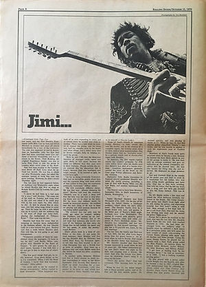 jimi hendrix newspapers 1970 / rolling stone :  october 15  1970 / part 2