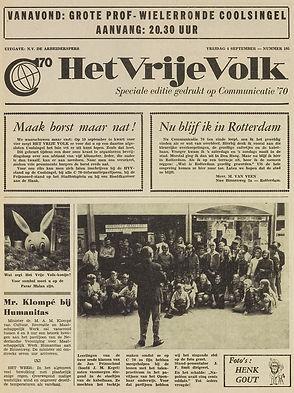jimi hendrix newspapers 1970 / het vrije volk september 4, 1970