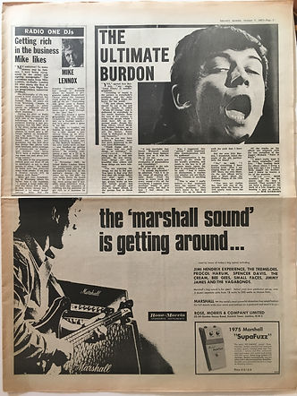 jimi hendrix collector newspapers/ melody maker 7/10/1967