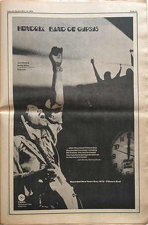 jimi hendrix newspapers 1970 / rolling stone  may 14, 1970, 1970