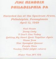 jimi hendrix cd bootlegs cd 1969/philadelphia pa / april 12 1969