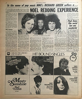 jimi hendrix newspaper/new musicl express october 5 1968/noel redding experience