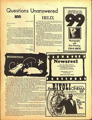 jimi hendrix newspaper 1969 / helix 1969