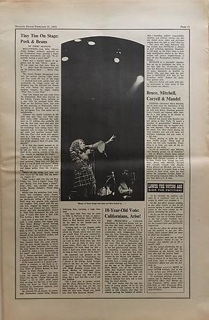 jimi hendrix newspaper 1970 /rolling stone  feb. 21, 1970 /mitch mitchell