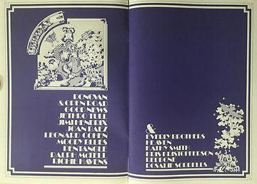 jimi hendrix memorabilia 1970/ program /  isle of wight festival 1970
