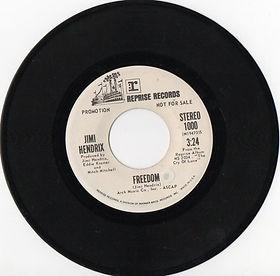 jimi hendrix singles vinyls/promo freedom stereo usa 1971
