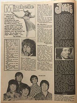jimi hendrix newspaper/mirabelle september 7 1968