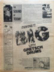 jimi hendrix newspaper/go magazine/ 27/9/68 the sound of today
