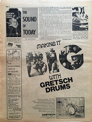 jimi hendrix newspaper/go magazine/ 27/9/68 the sound of today