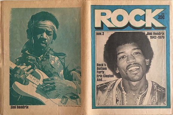 jimi hendrix newspapers: rock  november 2, 1970 / jimi hendrix 1942 - 1970