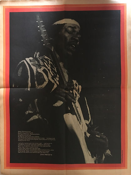 jimi hendrix newspapers 1970 / zygote  october 30,  1970 / poster