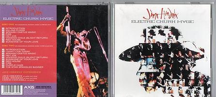 jimi hendrix bootleg cd 1969/electric churh music 2cd