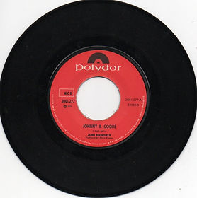 jimi hendrix vinyl single/johnny b.goode