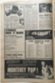 jimi hendrix newspapers 1969/ go set october 11,  1969